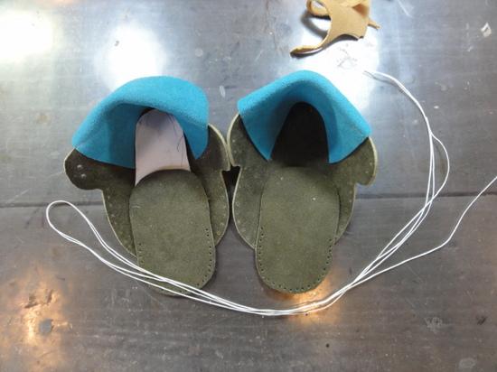 靴作成中.JPG