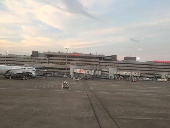 羽田空港第一ターミナル 機内から.JPG